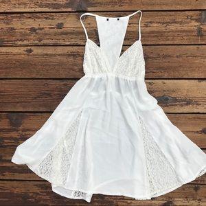 White Chiffon/Lace Slip